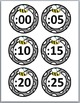 Bee Theme Telling Time Clock Labels