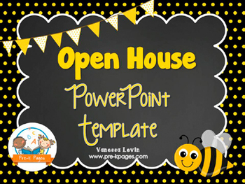 Bee Theme Open House ~ Back-to-School ~ PowerPoint Templat