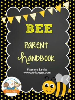 Bee Theme Parent Handbook Back-to-School {personalize it}