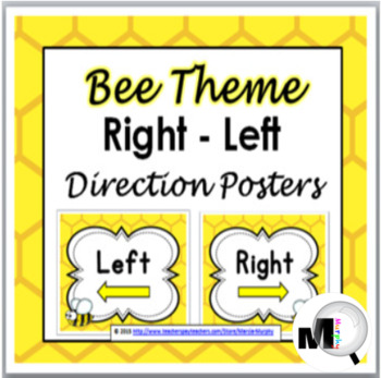 Bee Theme Right - Left Direction Posters