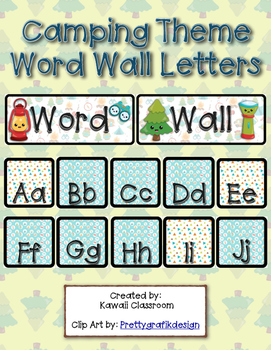 Camping Theme Word Wall Letters