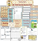Bee Themed Calendar and Classroom Forms