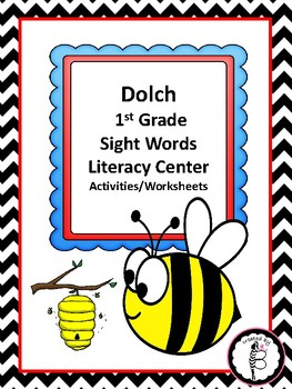 Bee Themed Dolch 1st Grade Sight Words Literacy Center Act