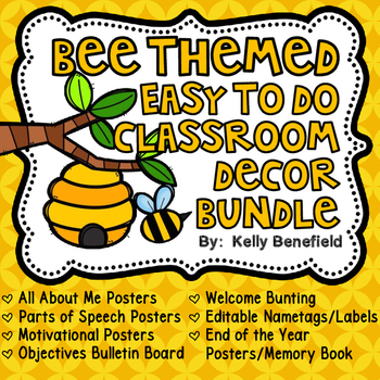 Bee Themed Easy to Do Classroom Decor Bundle