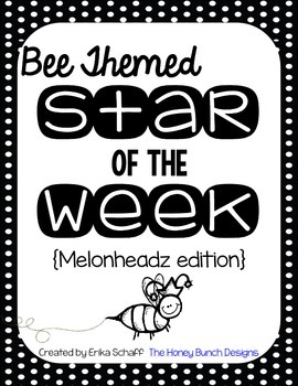 Bee Themed Star of the Week Poster