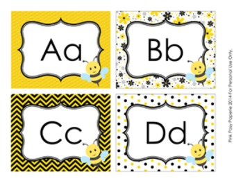 Bee Word Wall Headers