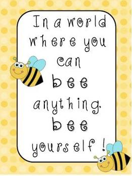 Bee Yourself Poster