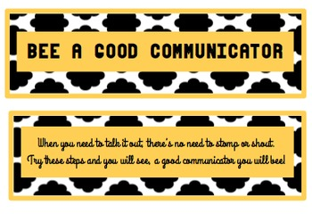 Bee a Good Communicator - Poster, Bulletin Board Set or Mi