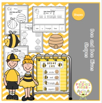 Bee and Bee Hive Shapes