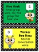 Bee and Polka Dot Buzz Level posters