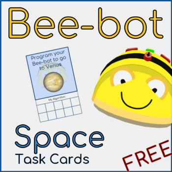 Bee-bot Space Task Cards FREE