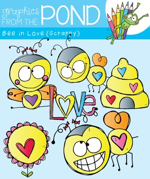 Bee in Love - Clipart for Teachers and Classrooms