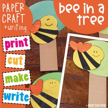 Bee in a Tree - Cut and Paste Kindergarten Craft