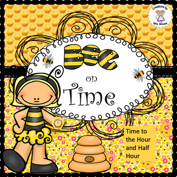 Math-Time - Bee on Time- Hour to Half Hour