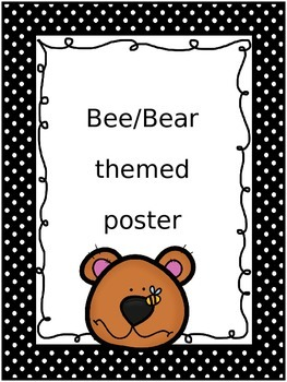 Bee/Bear themed poster set