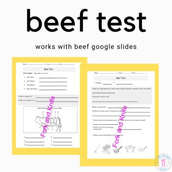 Beef Worksheet