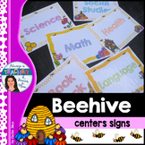 Beehive Classroom Decor Theme - Center Posters