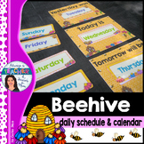 Beehive Classroom Decor Theme - Daily Schedule and Calendar