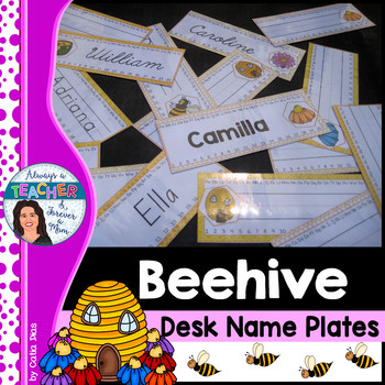 Beehive Classroom Decor Theme - Desk Plates