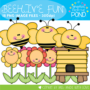 Beehive Fun Clipart