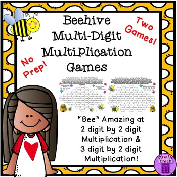 Beehive Multiplication Game (2 digit by 2 digit)