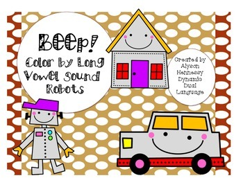 Beep! Color by Long Vowel Sound Robots!