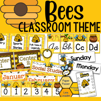 Bee Theme: Classroom Decor and Organizational Pack