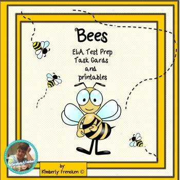Bees! Non-Fiction Task cards & Printables & ELA Test Prep