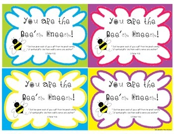 Bee's Knees gift tag