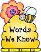 Bees 'n' Flowers Second Grade Word Wall