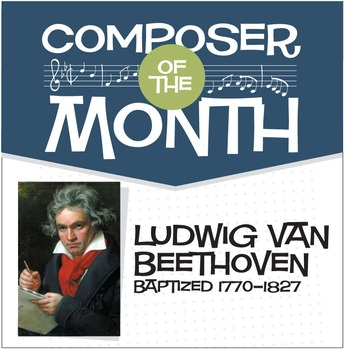 Beethoven   Composer of the Month Bulletin Board Pack (Dig