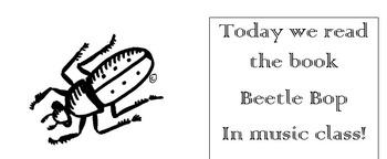 Beetle Bop Dance and Worksheet