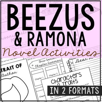 Beezus and Ramona by Beverly Cleary Novel Unit Study Activ