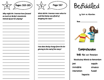 Befiddled Trifold - Storytown 6th Grade Unit 2 Week 1