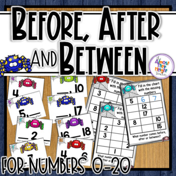 Before, After & Between Number Order for numbers 0-20 ~ Sp