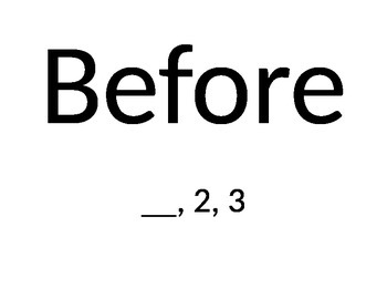 Before, After, and Between signs