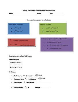 Before: Principle of Mathematical Induction: A Primer