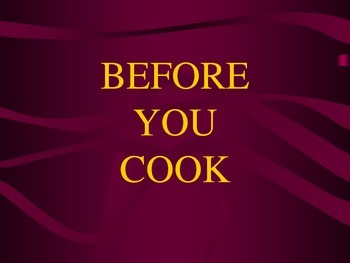 Before You Cook