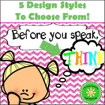 Before You Speak Think (visual)