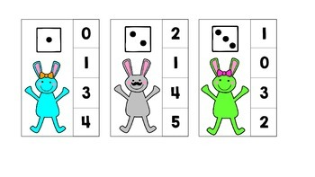 Before and After, Subitize, Number Recognition Clothespin