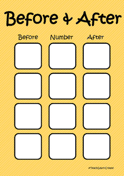 Before and After Number Game