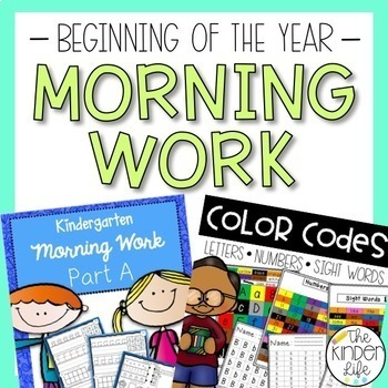 Beg. of Year Morning Work Bundle: Letters, Numbers, Additi