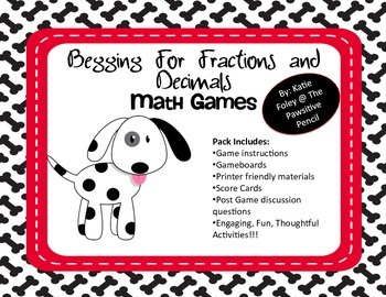 Begging for Decimals and Fractions Math Games