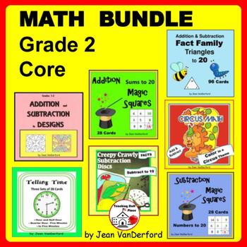 Math Bundle Grade 2 | Core FUN REVIEW | ADDITION | SUBTRAC
