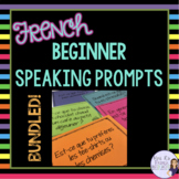 Beginner French speaking task cards - BUNDLED! 7 activities