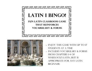 Beginner Latin Bingo