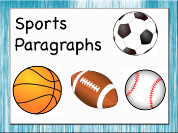 Beginner Paragraphs - Sports Theme