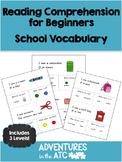 Reading Comprehension Worksheets:  School (CDN Spelling)