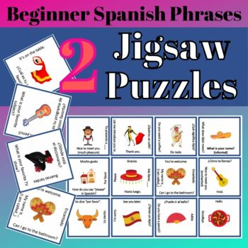Beginner Spanish Phrases Jigsaw Puzzle Greetings Basic Que