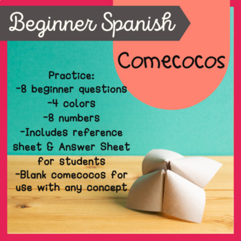 Interrogatives Questions Speaking Game Spanish Cootie Catc